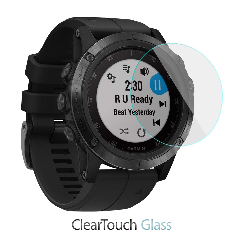 Amazon.com: Garmin Fenix 5X Plus Screen Protector, BoxWave [ClearTouch Glass] 9H Tempered Glass Screen Protection for Garmin Fenix 5X Plus: Cell Phones & ...