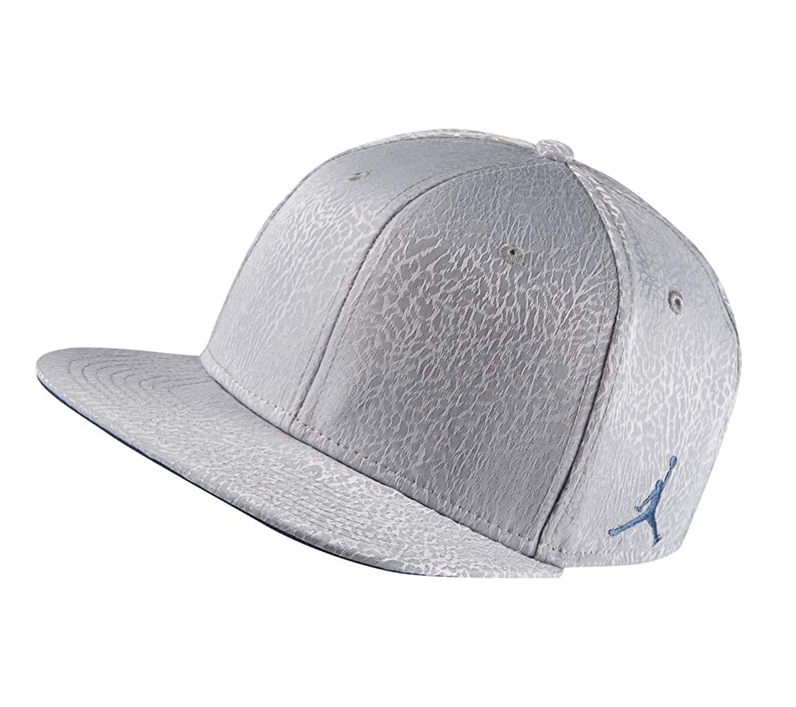 8562705aa27a49 Amazon.com  Nike Mens Jordan 3 Retro Snapback Hat Cement Grey True Blue  802029-010  Sports   Outdoors
