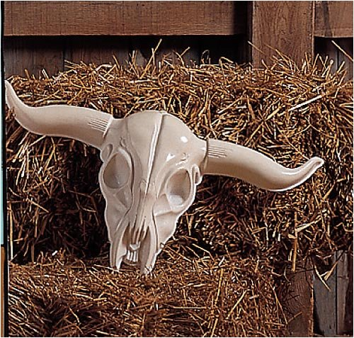 Plastic Longhorn Skull Party Accessory (1 count)