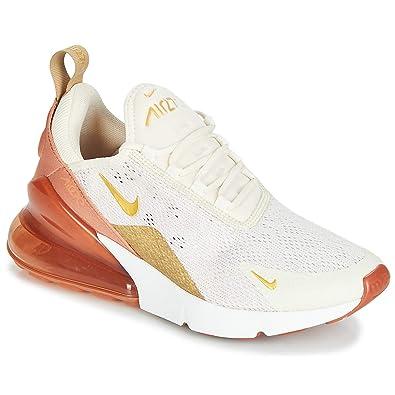new concept 9961d 08876 Amazon.com   Nike Women s Air Max 270 Light Cream Metallic Gold Terra  Blush Dusty Peach Mesh Casual Shoes 6 M US   Trail Running
