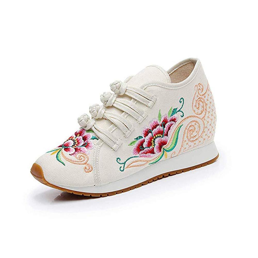 Chaussures de Broderie de de Fleurs de de Style Chinois Beige Beige 2e62ecc - boatplans.space