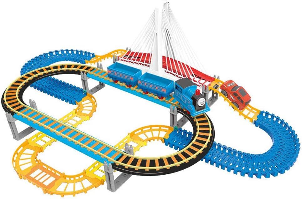 Alician Children Plastic Parking Toy Set Three-dimensional Multi-layer Car Assembly Rail Car Parent-child Interaction Gift Boy Toys Orbit (135PCS) Orbit (135PCS) SSnnAHqe