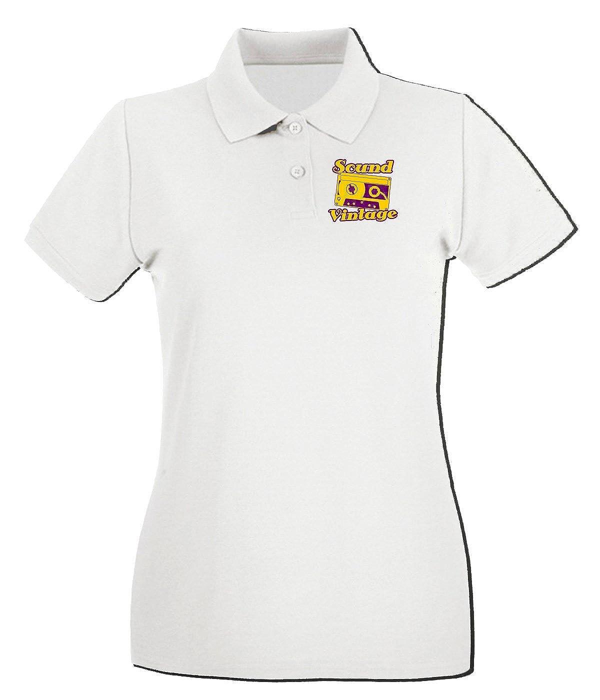 T-Shirtshock - Polo para mujer T0150 SOUND VINTAGE vintage, Talla ...