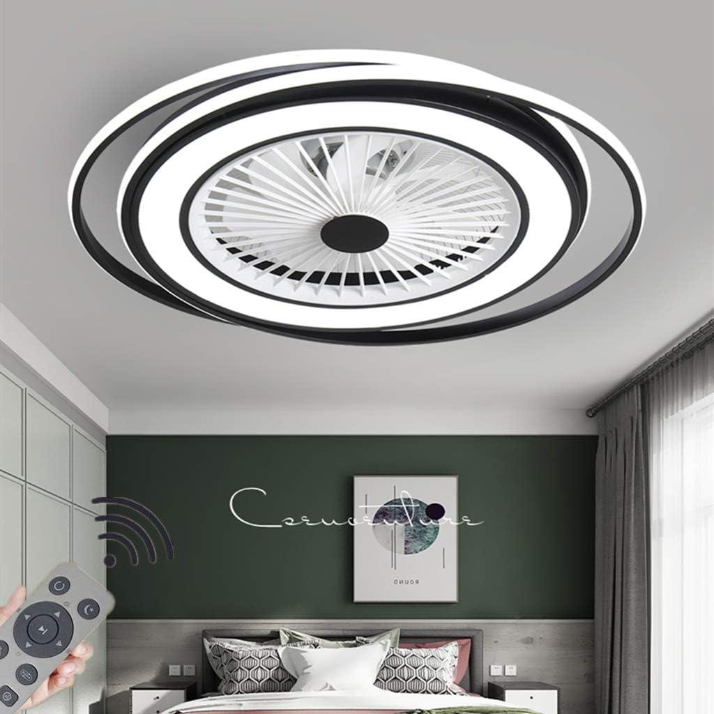 HYKISS LED Lámpara De Ventilador Moderno Dormitorio Regulable Luz De Techo LED con Ventilador Invisible Restaurante Araña De Ventilador Sala Comedor Oficina Fan Iluminación Ø60CM