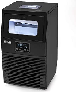 Barton Commercial Automatic Ice Maker Built-in Ice Cube Maker Machine 66lbs/24hr Timer Clean LCD Panel Interior Light w/Ice Scoop