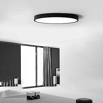 Led Ultra Dünne Deckenleuchten Runde Schlafzimmer Einfache Moderne  Wohnzimmer Büro Nordic Studie Balkon Lampen , Black