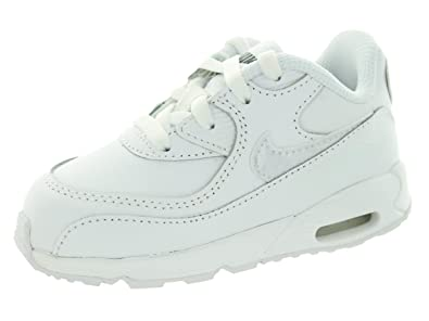 98c7e9d88d4 Nike Toddlers Air Max 90 Ltr (TD) White White Cool Grey Running