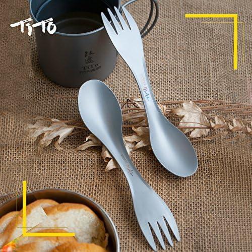 Tito Titanium Cuillère Avec Haute Résistance et ultra-léger en alliage de titane fourchette pour