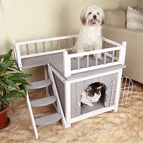 28 Lx21 Wx25 H Cat Houses Condos For Indoor Use Dog