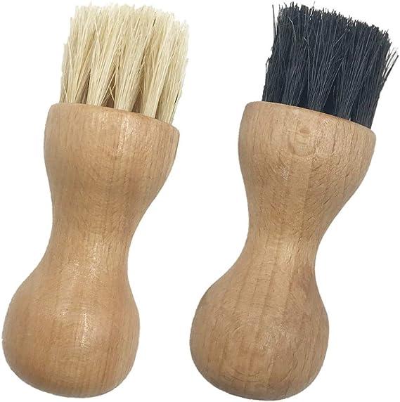 2 Pieces Shoe Polish Applicator Brushes