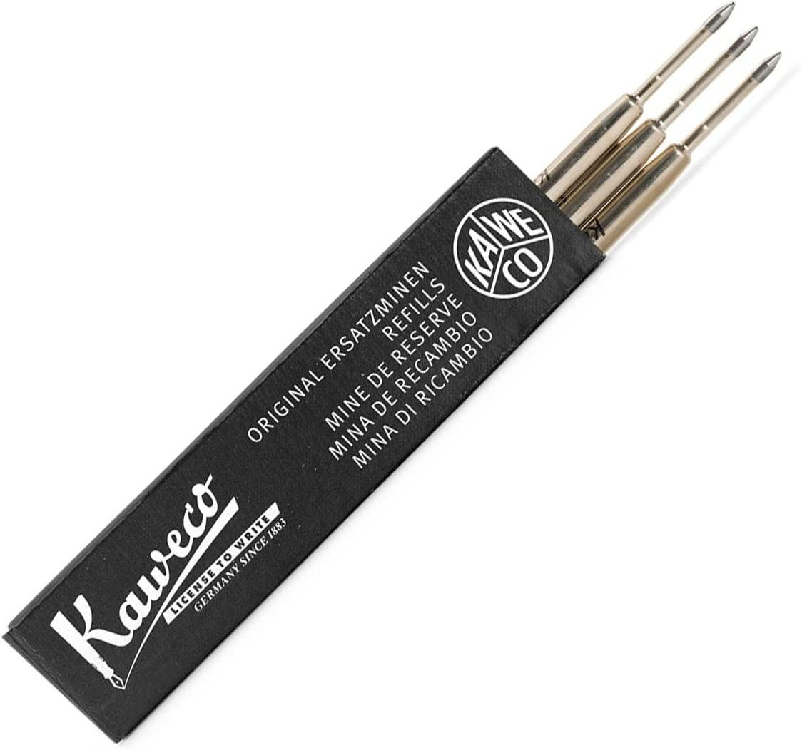 Kaweco D1 Lot de 5 recharges pour stylo bille Noir 2 mm