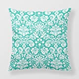 Lightinglife Throws For Sofa Turquoise Decorative Cushion Aqua Blue 18 X 18 Pillow Cover