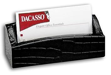 Amazon dacasso black crocodile embossed leather business card dacasso black crocodile embossed leather business card holder colourmoves