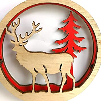 Covermason Christmas Wooden Decorationswooden Decorations Craft