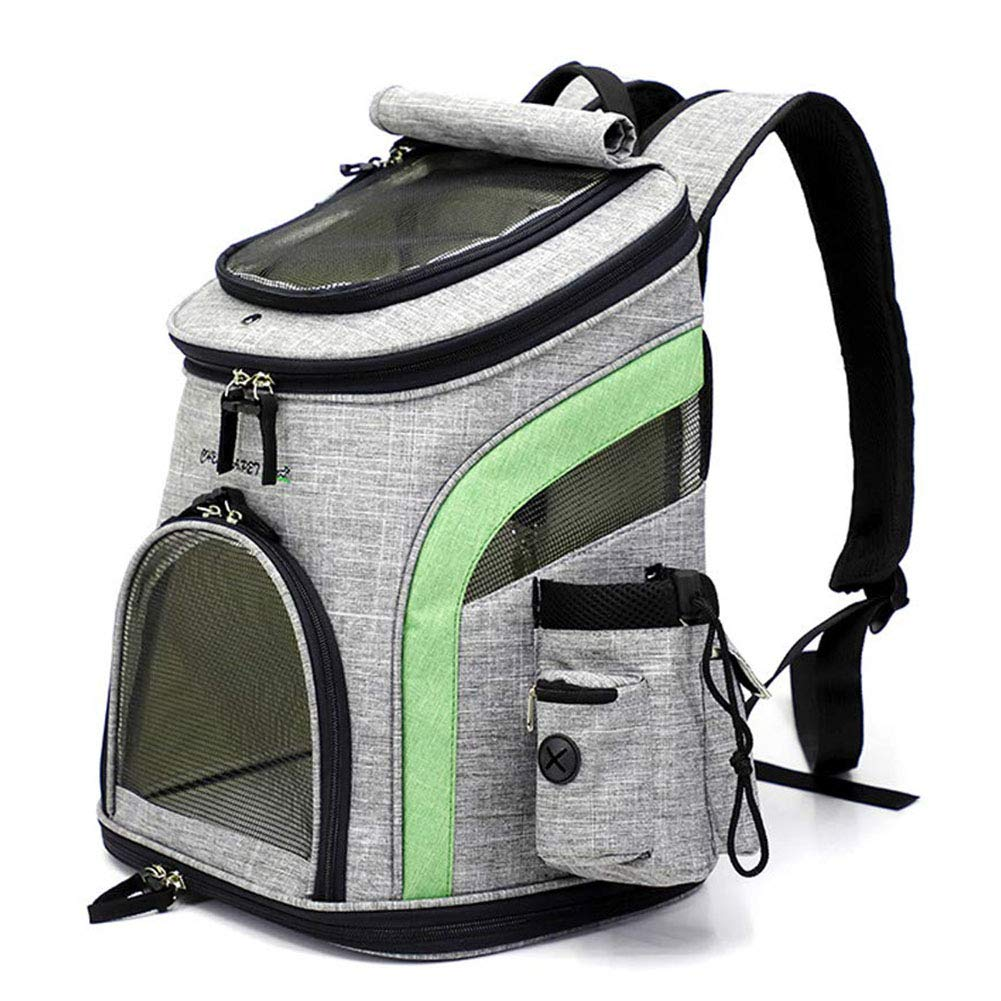 Pet Carrier Backpack Rucksack for Dogs Puppy and Cats, Pet Backpack with Soft Fleece,Breathable Mesh for Travel Camping Outdoor