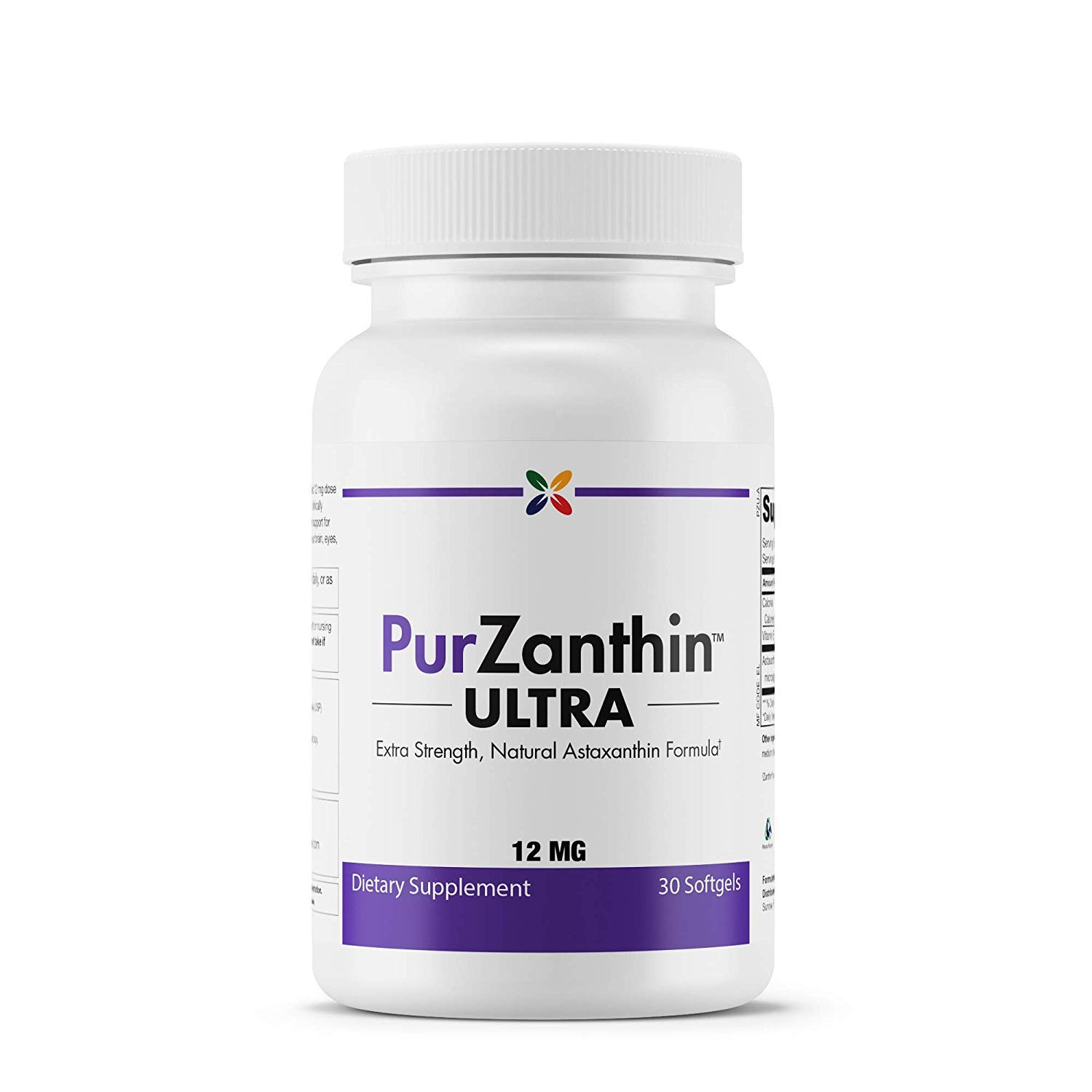 Stop Aging Now - PurZanthinTM ULTRA Natural Astaxanthin 12 MG (PZUWPT) - Extra Strength, Natural Astaxanthin Formula - 30 Softgels