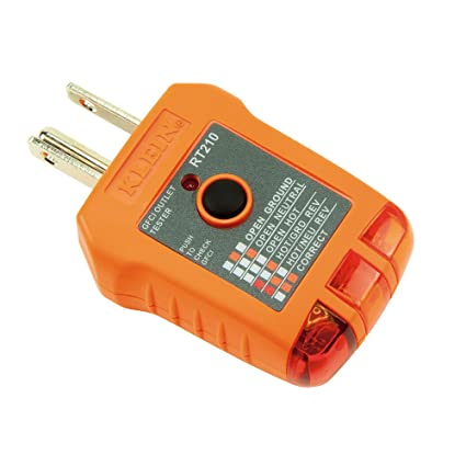 Klein Tools RT210 Outlet Tester, Receptacle Tester for GFCI / Standard on