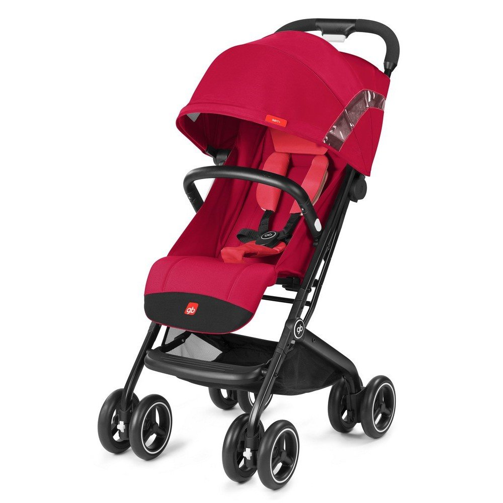 gb 2018 Buggy QBIT+ WITH Bumper Bar ''Cherry red'' - from birth up to 17 kg (approx. 4 years) - GoodBaby QBIT PLUS