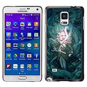 Paccase / SLIM PC / Aliminium Casa Carcasa Funda Case Cover - Mystery Fairytale Sword Pc Game - Samsung Galaxy Note 4 SM-N910F SM-N910K SM-N910C SM-N910W8 SM-N910U SM-N910