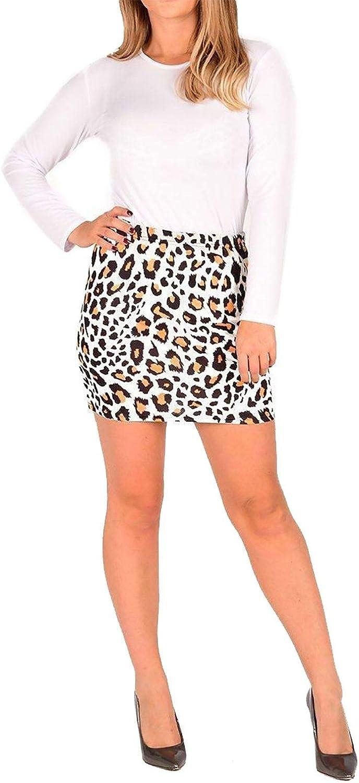 Islander Fashions Mujer Leopardo Y Serpiente Impreso Mini Falda ...