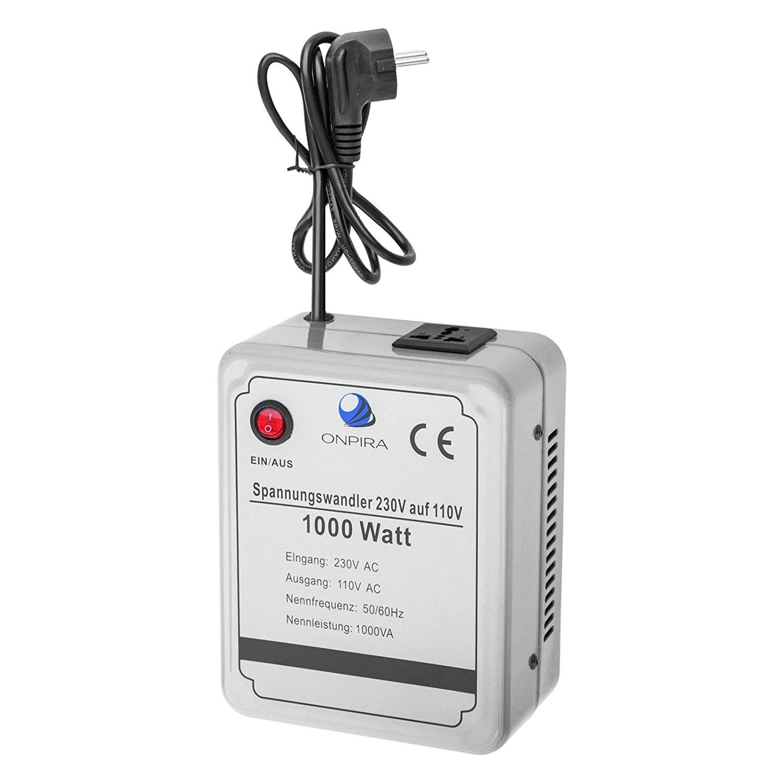 220V auf 110V Spannungswandler Transformator Wandler Umwandler Converter 230V AC (1000W) Onpira