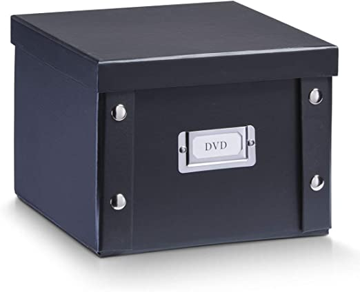 Zeller 17943 Caja de almacenaje de cartón Negro (Schwarz) 21.5 x ...