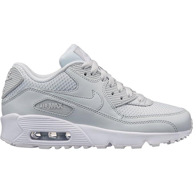 NIKE Air Max 90 Mesh (Gs) Schuhe Kinder Silber: