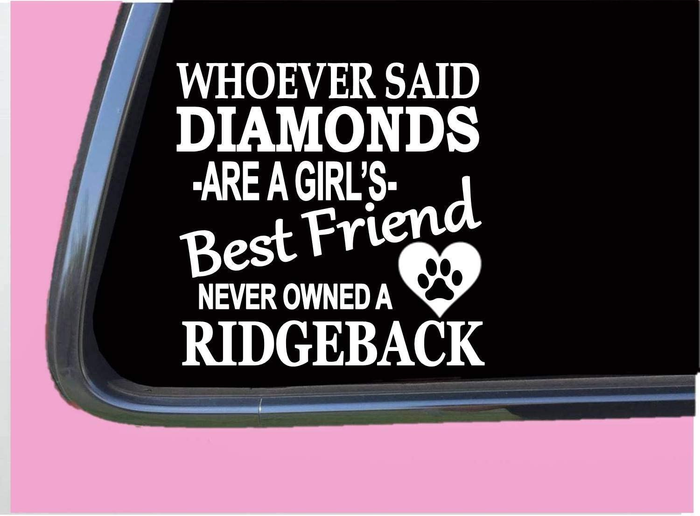 "Rhodesian Ridgeback Diamonds TP 518 Sticker 6"" Decal Dog Breed Thai Vinyl Decal for Cars, Trucks, Laptops"