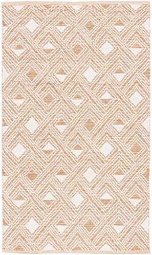 Safavieh Montauk Collection MTK614O Peach and Ivory Area Rug 5 x 8