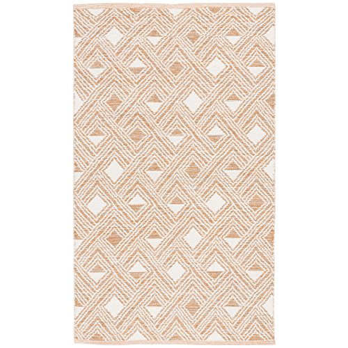 Safavieh Montauk Collection MTK614O Peach and Ivory Area Rug 3 x 5