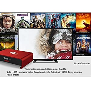 [New Model] Pigflytech T95U Pro Red Mini Andriod Smart TV Box&DTV Converter TV Box