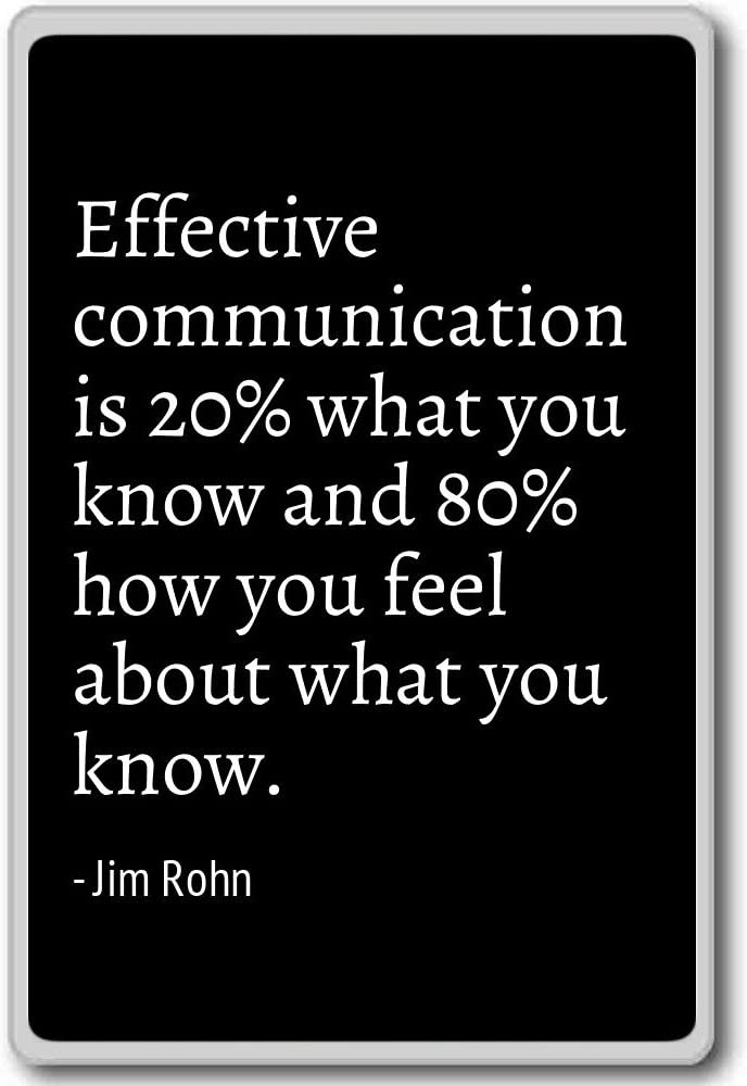 PhotoMagnets Effective Communication is 20% What You Know and ...