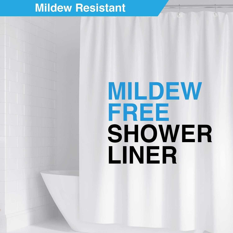 Heavy Duty Waterproof Shower Curtain Liner Anti-Microbial Mildew Resistant