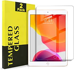"""[2 Pack] Apple iPad 7 /7th Gen 10.2"""" 2019 Tempered Glass LCD Scratch Resist Tempered Glass LCD Screen Protector Film Guard (2 Pack)"""