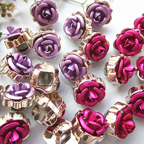 Maslin 2017 New 144pcs 11mm Rose red/Purple Spring/Summer wear Shirt Button for Sewing Ladies