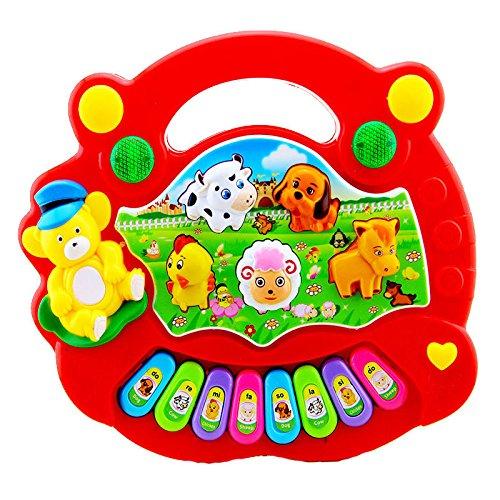 MAZIMARK--New Baby Kids Musical Educational Animal Farm Piano Developmental Music Toy Gift