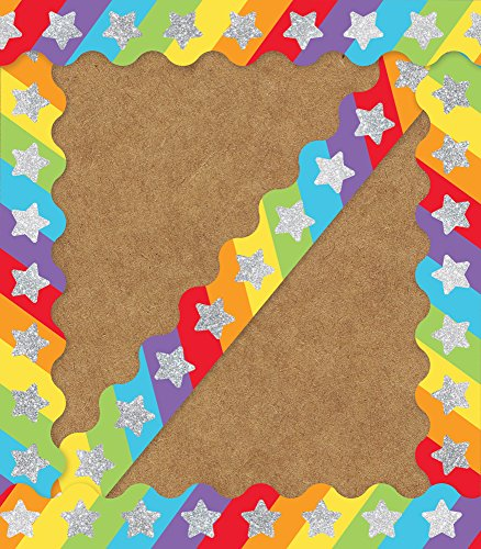 - Carson Dellosa Decorative Sparkle and Shine Glitter Stars On Rainbow Scalloped Borders (108321)