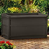 Suncast 50 Gallon Java Resin Storage Seat Deck Box DB5500J