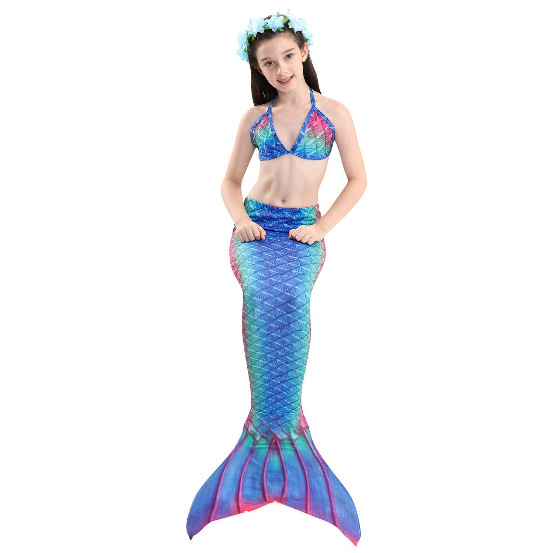 Lee Little Angel 2019 dreiteilige Girl Mermaid Schwanz Bikini Anzug