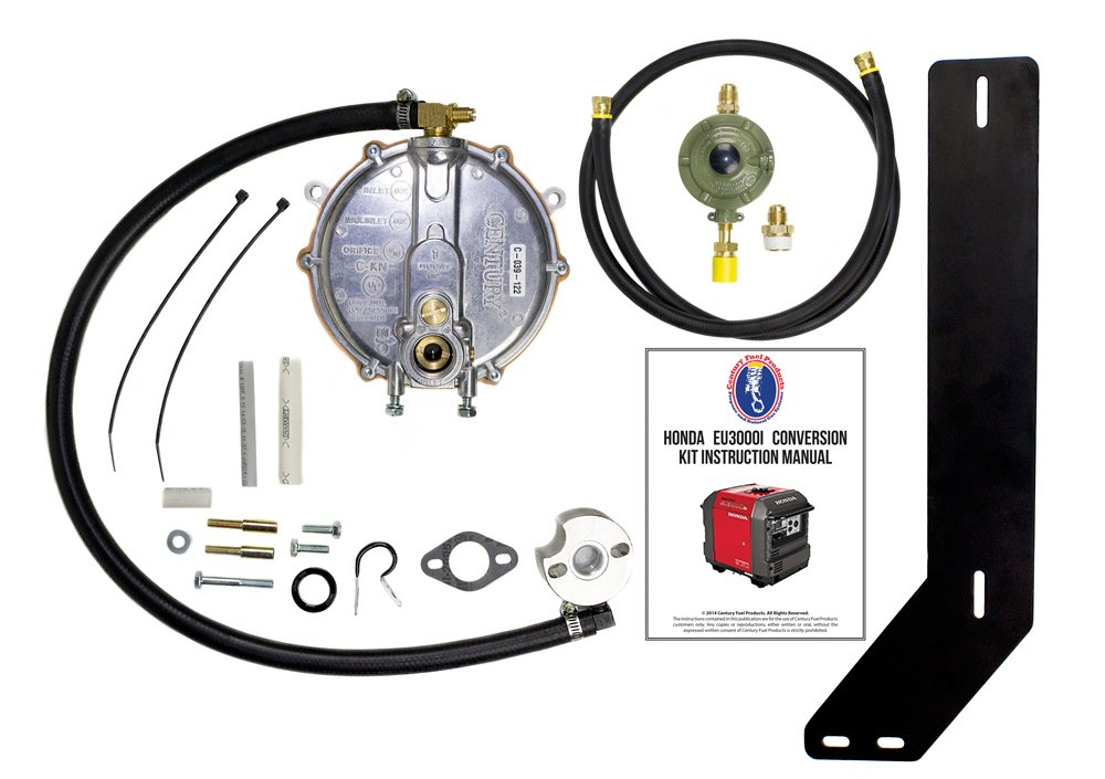 Amazon.com : Honda Eu3000iS Generator Propane / Natural Gas Conversion Kit  With Propane Connection Hose And Regulator. Complete Kit For Propane Use ...