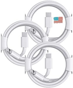 Apple USB C to Lightning Cable, [Apple MFi Certified] 3 Pack iPhone 20W Fast Charger Cable Cord for iPhone 12/12 Pro/SE/11/Xs/XR/X, iPad,AirPods Supports Quick Charging Power Delivery -6.6ft/2M