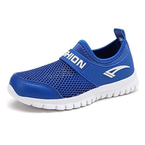 5fec99657901f Amazon.com: FCSHOES Velcro Laceless Girls Boys Outdoor Sport Shoes ...