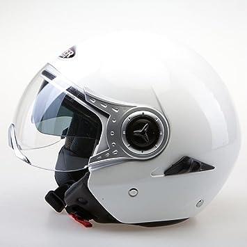 VIPER RS-V18 NUEVO MODELO MOTOCICLETA TOURING ABIERTO CASCO (S, NEGRO)