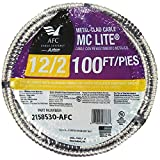 100 ft. 12-2 Stranded MC Lite Cable