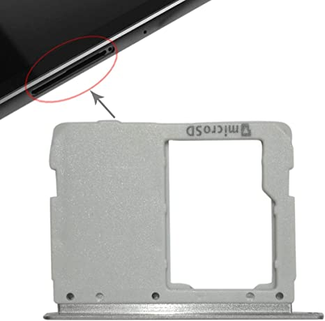WiFi Version Black WanShiHengTong Spare Parts GGR Micro SD Card Tray for Galaxy Tab S3 9.7 // T820 Replace Color : Silver