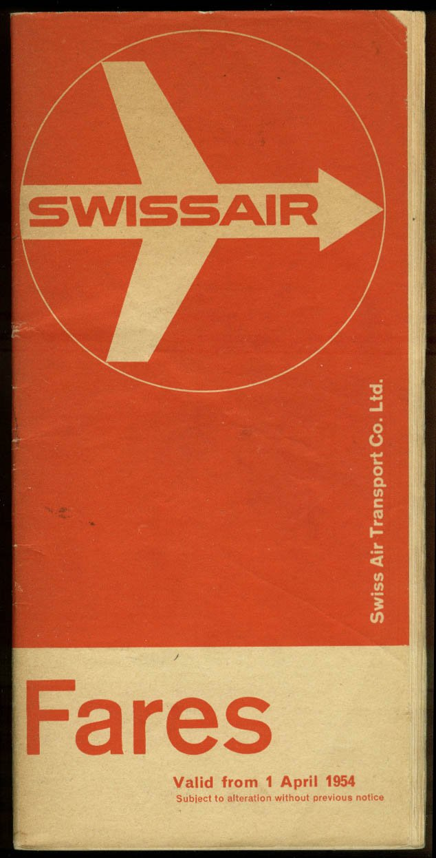 Amazon com: Swissair airline fares & air freight rates 4/1