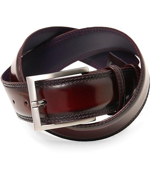 Elliot Rhodes Hombres cinturón cordobés bruñido Borgoña ...
