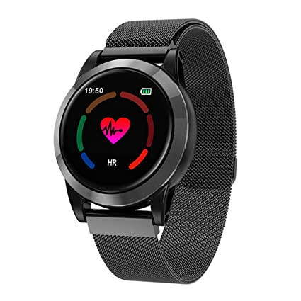 QTEC Reloj Inteligente Reloj Inteligente Hombres Android Smartband Ritmo cardíaco Pulsera de Fitness Monitor de sueño