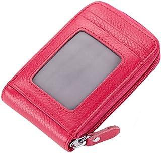 Mignon carte de crédit Cartes de sac à fermeture porte-monnaie, Rose rouge Blancho Bedding