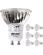 DiCUNO GU10 LED Bulb 5W 500LM Daylight White 6000K 220V Non-dimmable Energy Saving Lamp Chandelier Pack of 6